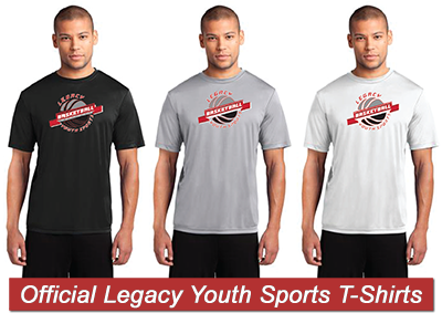 Official Legacy Youth Sports LYS Basketball TShirts
